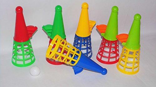 KSS 6 x Fangbecher in groß Fangspiel für Kindergeburtstag, Tombola, usw...