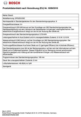 Bosch Unterbaugeschirrspüler / A+ / 220 kWh/Jahr / 2380 L/jahr / Aqua Sensor / Active Water Hydrauliksystem