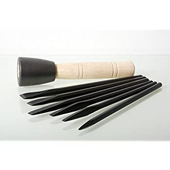 Italian Stone Carving Fire-Sharp Carbon Steel Chisel 5 Piece Set