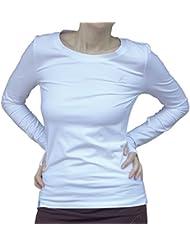 Esparto manga larga vicitra, color Schneeweiss, tamaño S