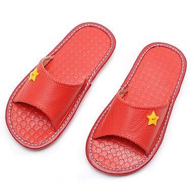 LQXZM Unisex pantofole & amp; flip-flops Primavera / Estate / Autunno pantofole Vacchetta Casual tacco piatto altri Brown coffee