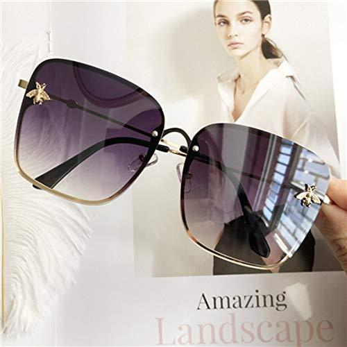 Sonnenbrillen. Übergroße Quadratische Sonnenbrille Männer Frauen Celebrity Sonnenbrille Männlichen Fahren Superstar Luxusmarke Designer Weiblichen Shadessports Reisen Staubdicht Uv 400 Gold