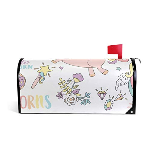 icorns and Other Fairy Tales Stickers Both Sides 21 x 18 Inches Waterproof Canvas Mailbox Coveres Standard Size Magnetic Mailbox Cover ()