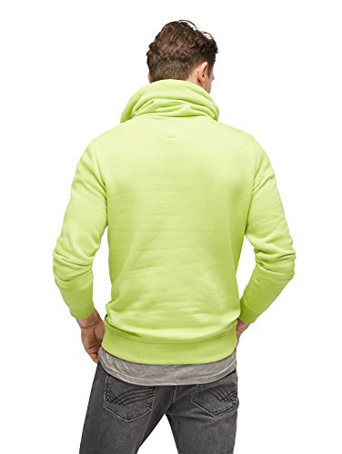 TOM TAILOR Herren Sweatshirt Snood with Color Details fan plant green