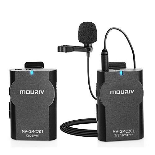 Mouriv MV-GMC201 Kompakte Lavalier Wireless Mikrofon für Canon Nikon Sony DSLR Kamera Camcorder Audiorecorder iPhone 7 7Plus 6 6Plus Samsung Huawei Smartphone Android Tablet PC