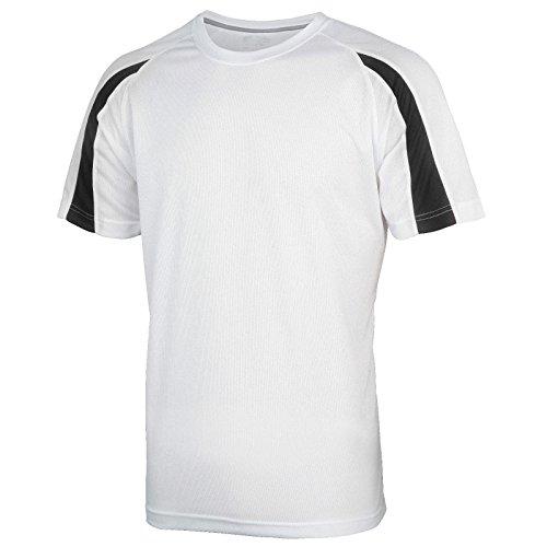 AWDis Herren Modern T-Shirt Arctic White/ Jet Black