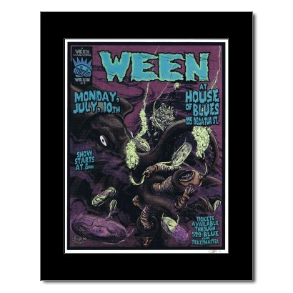 WEEN - House of Blues New Orleans 2000 Matted Mini Poster - 22.2x17cm - Orleans Mini