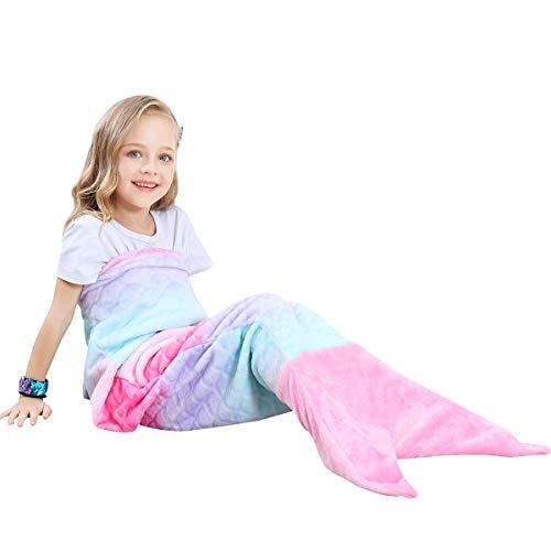 gfrau Decke Geschenke Beste - Personalisierte Handgemacht Gestrickt Warmes Wohnzimmer Sofa Decke Spielzeug Kinder Für Geburtstagsgeschenk (Kinder, Rosa) ()