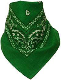 Bandana avec Motif Paisley vert