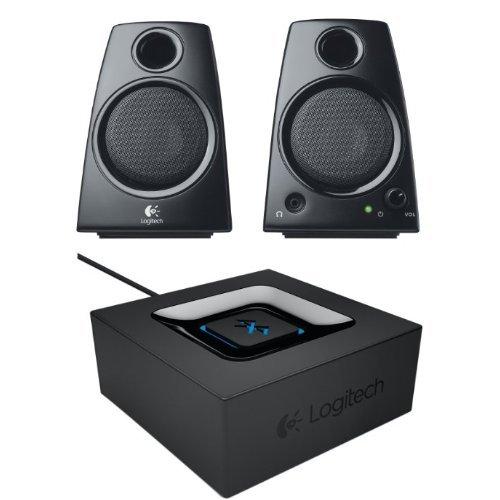 Preisvergleich Produktbild Logitech Z130 2.0 PC-Lautsprecher (5 Watt) schwarz + Logitech Bluetooth Audio Adapter schwarz