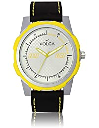 Xurious Enterprise Round Dial Analogue Silver Dial Black Leather Strape Fashion Wrist Watch For Men & Boys | XE_VL...