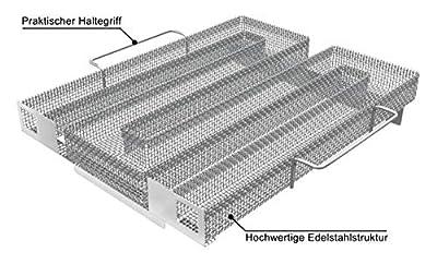 Neco+| Edelstahl Kaltrauchgenerator | Kaltraucherzeuger - Sparbrand für Fleisch, Fisch & Gemüse auf dem Grill, Smoker oder Räucherofen ? Feinste Raucharomen durch Kaltrauch