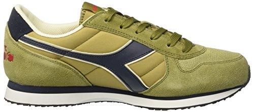 Diadora K-Run Ii, Sneaker Basses Homme, Dark Blue/Ferrari Red Vert (Verde Briofite)
