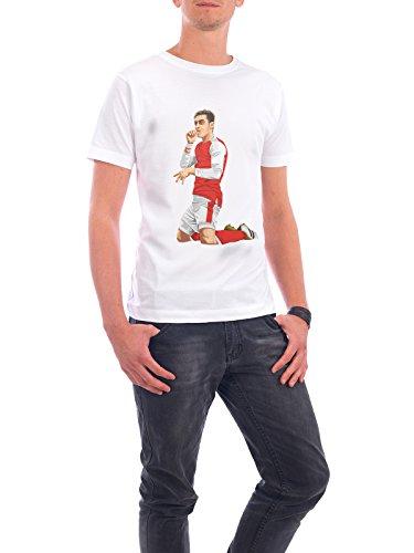 """Design T-Shirt Männer Continental Cotton """"Iconic Celebration"""" - stylisches Shirt Sport / Fußball Menschen von Muhammad Siddik Weiß"""