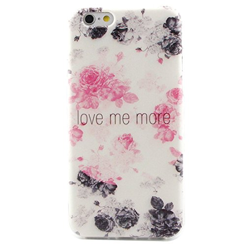 Apple iPhone 6/6S Silicone Coque, Yaking® (3 in 1) Silicone TPU Case Cover Étui Housse pour Apple iPhone 6/6S avec 1 X Stylet + 1 X Strass Bouchon Anti-Poussière P-2
