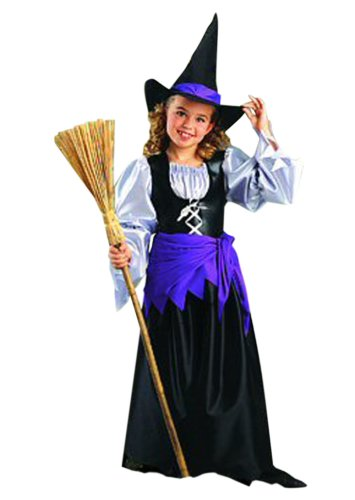 Imagen de hilka  disfraz de bruja para niña, talla 10 años h023 001