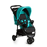 Hauck Citi Neo II, One Hand Fold, From Birth to 22Kg, 3 Wheel Pushchair, Black/Blue