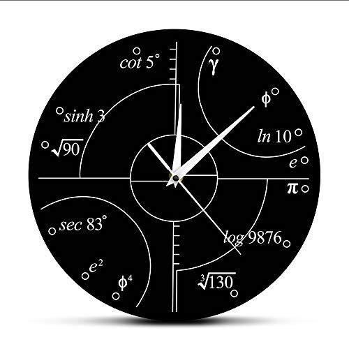 koyiyo Fortgeschrittene Mathematik Irrationale Zahlen Wanduhr Wissenschaft Mathematische Wandkunst Moderne Uhr Wanduhr Klassenzimmer Dekor Lehrer Geschenk