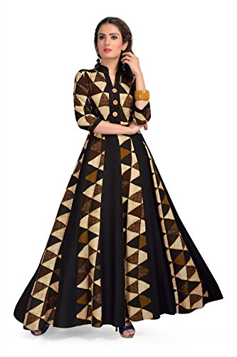 MT Printed Designer Maxi Gown style Kurta - Party wear long rayon ...