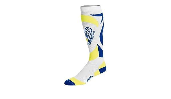 35ae258d2c EC3D Twist Compression Socks, Blue/Citrus, 4: Amazon.co.uk: Sports &  Outdoors