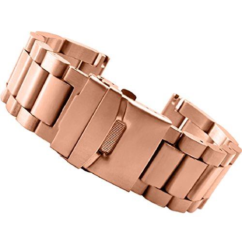 Preisvergleich Produktbild für Garmin Fenix 3 / HR,Culater Luxus Bunte Metall Edelstahl Uhrenarmband Riemen (Rose Gold)