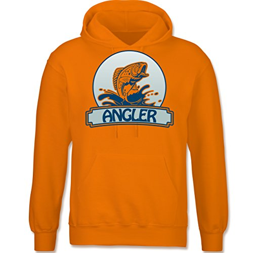 Angeln - Angler Button - langärmeliger Herren Kapuzenpullover / Hoodie