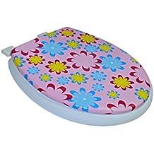 2416 Tapa de medida universal para el asiento del WC con diferentes motivos - Flores rosas