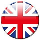 Kühlschrankmagnet Flagge UK - Reise Souvenir Land United Kingdom Ø 50 mm groß - Länder Fahne Union Jack Großbritannien