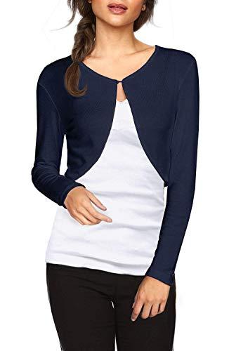 Idgreatim Damen Langarm Strickjacke Cropped Cardigans Sweaters Jacken Open Front Short Shrugs für Kleider Knit Blazer Coat Knit Blazer-jacke