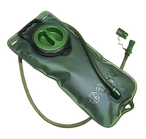 Trinkbeutel mit Schlauch 2 Liter Fassungsvermögen in grün Trinkblase Wassersack Camping Sport Freizeit Outdoor Trinksystem für Trink-Rucksäcke von der Marke PRECORN
