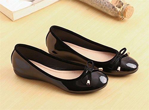pengweiChaussures plates arrondies Chaussures peu profondes peu profondes Chaussures simples Chaussures d¨¦contract¨¦es Black