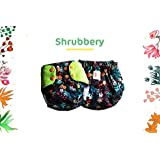 Superbottoms Plus UNO Reusable Cloth Diaper with 2 Certified Safe Organic Cotton Inserts, Shrubbery