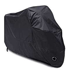 Idea Regalo - Telo Coprimoto Impermeabile(un anno di garanzia), LIHAO 190T Copri Scooter Moto Antipolveri Anti-UV per Esterni, con Sacca per il Trasporto, Colore: Nero