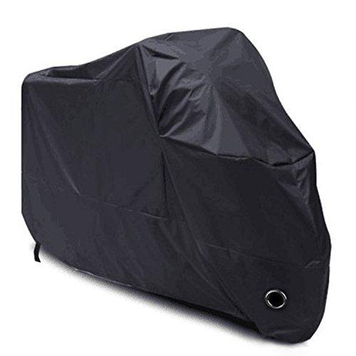 Vantaggi : 1. Dimensioni: 245*105*125cm, ideale per la maggior parte delle moto, scooter. 2. Colore: nero, resistente allo sporco. 3. Resistente alla polvere, impermeabile in qualche misura, UV 40+. 4. Leggero e pieghevole, con una sacca per il trasp...