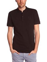 Eleven Paris - Camiseta con cuello mao de manga corta para hombre