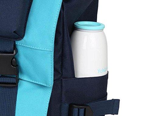 FZHLY High-Capacity Rucksack Hit Farbe Wasserdicht Computer Schultertasche Pink