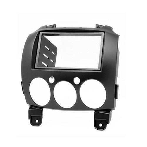carav 11-079 Doppel DIN Autoradio Radioblende DVD Dash Installation Kit für Mazda 2, Demio Faszie mit 173 * 98 mm und 178 * 102 mm 2 Din Kit