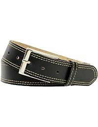 Xeira® Echt Ledergürtel 4cm Breit mit und ohne Naht bis Bundweite 160cm