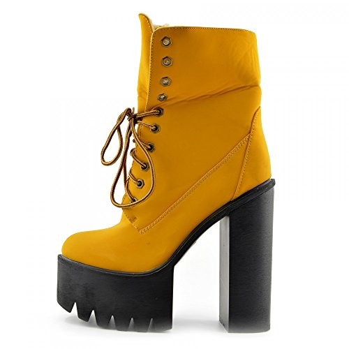 Kick Footwear - Kick Footwear Womens Block Heeled Chunky Platform Cut Out Ankle Boot MIELE - D4780