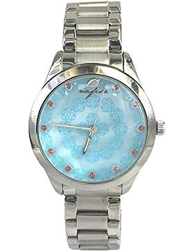 Nafisa Frauen Fashion Zifferblatt Silber Edelstahl Armbanduhr NA-0043