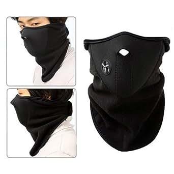 Dcolor Masque du visage en neoprene Couvrir le nez et le cou de garder chaud Ski moto et velo adaptable
