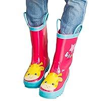 Bigood Unisex Baby Kid Animal Patterned Waterproof Rainboot Rain Boots