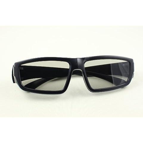 3 Pares de pasiva Universal gafas 3D para todos TV y cine de alta calidad color negra