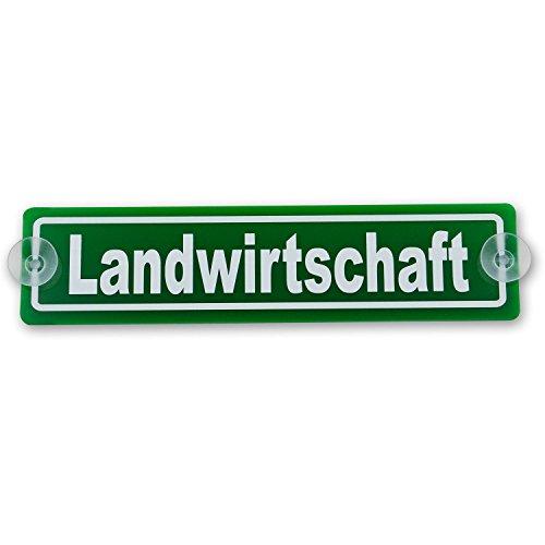 wall-art-design Saugnapfschild Schild Landwirtschaft Acrylschild 3mm, ca.20x5 cm für Scheibeninnenbefestigung