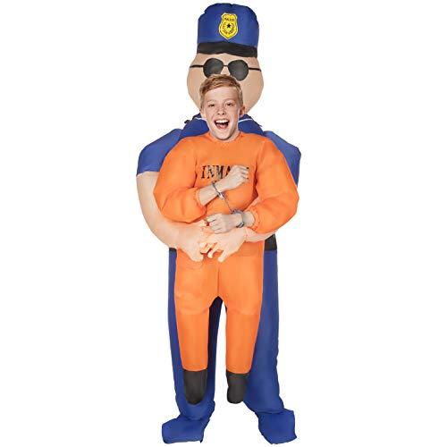Morph Kinder Aufblasbare Polizei ab Kinder Halloween-Kostüm (Deckenventilator Kostüm Halloween)