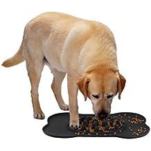 KAIHONG Mascota Comida Lenta, Perros Tazón Plato de Comida para Mascotas con Alfombra Antideslizante (