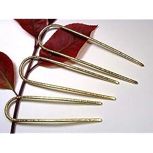3 Haarforke aus Messing, Haarforke, Haarschmuck, Haar Accessoires Geschenkidee