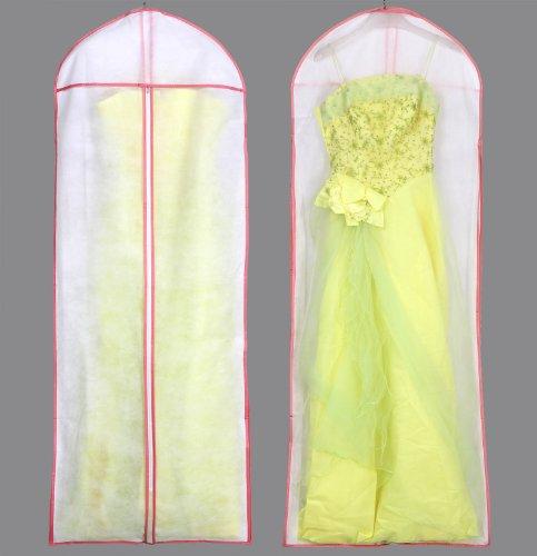 HIMRY® Atmungsaktiver Kleidersack Schutzhülle für Kleider / Abendkleider / Anzüge / Mäntel - ca. 154 cm - Reissverschluss , Pink, KXB-106 Pink