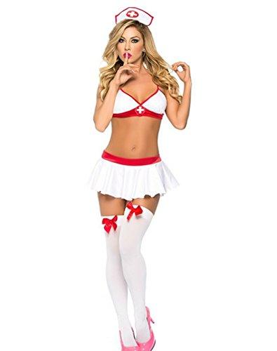 Dessous Krankenschwester Nachtigall Kostüm Babydoll Schlafzimmer Honeymoon Einheitsgröße passt Free (Krankenschwester Nachtigall Kostüm)
