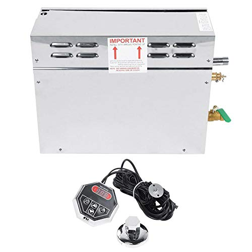 BTIHCEUOT Saunaofen, elektrischer Sauna-Dampfgarer-Generator TC-135 aus Edelstahl, digitaler Temperaturanzeigeregler(US-Stecker)